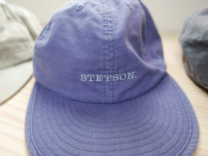 Stetsonのネイビーキャップ正面