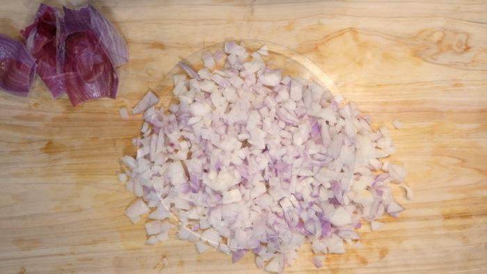 みじん切りの玉葱