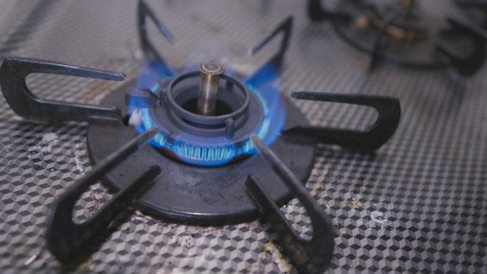 レンジの火